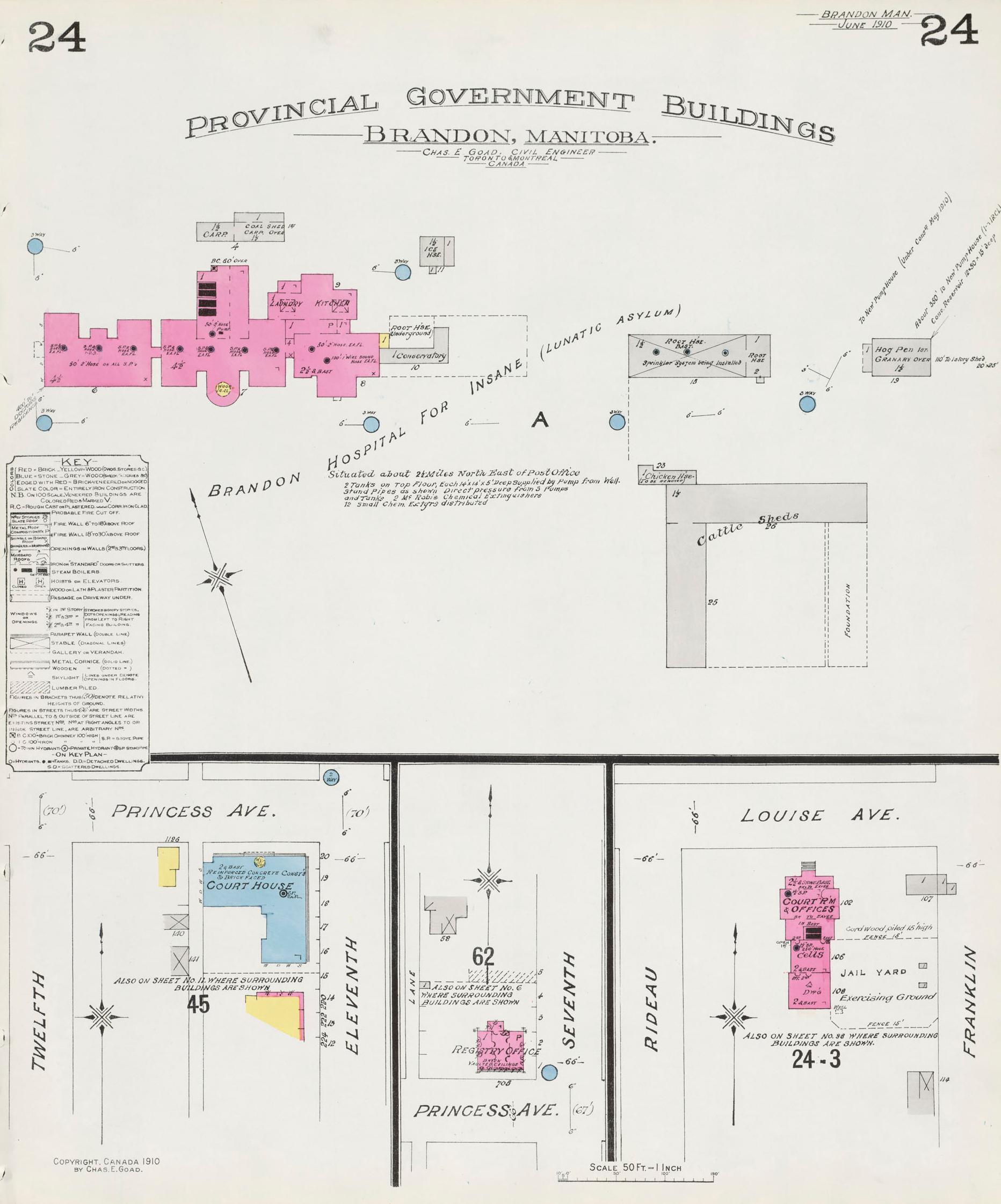 Brandon Fire Insurance Maps 1910